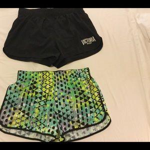 2 Victoria's secret athletic running shorts (EUC)